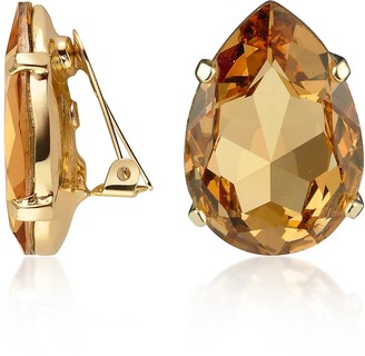 A-Z Collection Amber Tear-Drop Clip-On Earrings