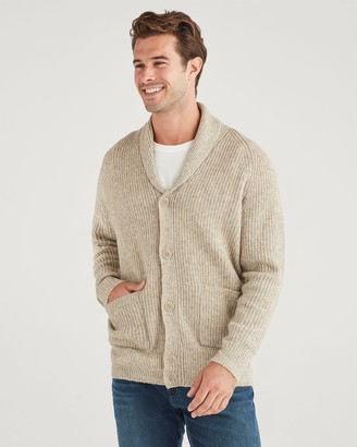 7 For All Mankind Shawl Collar Cardigan in Heather Oatmeal