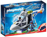 Playmobil NEW Police Helicopter w/ LED Searchlight Set 7pce
