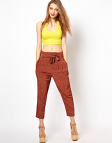 Viva Vena High Waisted Pants with Pleat Front