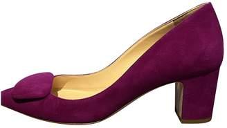 Rupert Sanderson Purple Suede Heels
