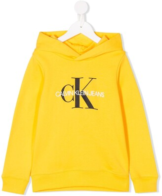 Calvin Klein Kids Logo-Print Hooded Sweater