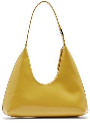 BY FAR Amber Patent-leather Shoulder Bag - Yellow
