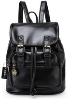 Tibes PU Leather Backpack Fashion Small Backpack