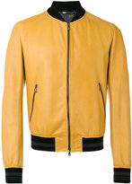 Dolce & Gabbana leather bomber jacket - men - Cotton/Lamb Skin/Polyamide/Spandex/Elastane - 46