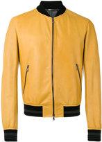 Dolce & Gabbana leather bomber jacket - men - Cotton/Lamb Skin/Polyamide/Spandex/Elastane - 50