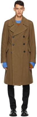 Dries Van Noten Brown Long Coat