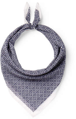 Anderson & Sheppard Printed Cotton Scarf