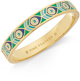 Kate Spade Gold-Tone Peacock Pattern Bangle Bracelet