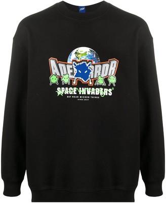 Ader Error Space Invaders print round neck sweatshirt