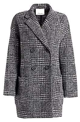 3.1 Phillip Lim Women's Glen Check Dolman Sleeve Coat