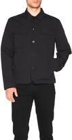 Helmut Lang Textured Cotton Linen Patch Pocket Jacket