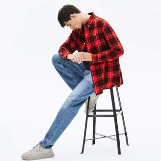 Lacoste Men's LIVE Boxy Fit Check Flannel Shirt