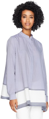 Anne Klein Women's Chambray Tunic Blouse
