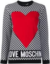 Love Moschino heart print jumper