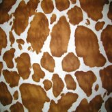 Camilla And Marc SheetWorld Fitted Bassinet Sheet - Brown Cow - Made In USA - 15 inches x 32 1/2 inches (38.1 cm x 82.6 cm)