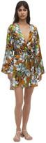 Luna Di Seta Floral Print Kimono Dress