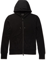 Tom Ford - Cotton, Silk And Cashmere-blend Jersey Hoodie