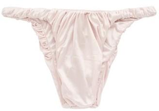 Isa Boulder - Jessie Gathered High-leg Bikini Briefs - Womens - Light Pink