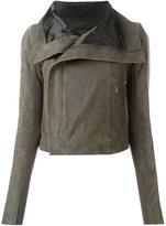 Rick Owens ribbed brass sleeve biker jacket - women - Calf Leather/Cupro/Brass/Virgin Wool - 42