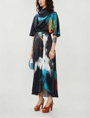 Roksanda Senja printed silk gown