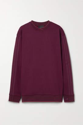 adidas Ivy Park Oversized Grosgrain-trimmed Cotton-jersey Sweatshirt - Burgundy