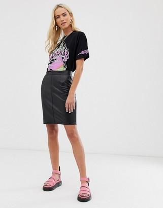 Noisy May PU skirt