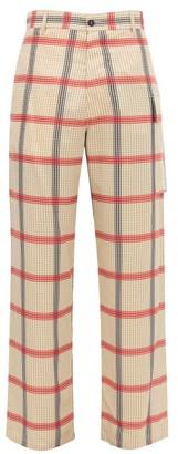 Marni Checked-voile Cargo Trousers - Beige Multi