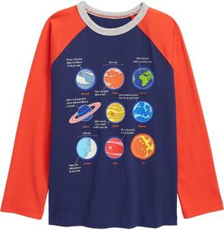 Boden Kids' Glow in the Dark Space T-Shirt