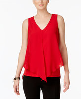 NY Collection Sleeveless Chiffon Top