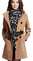 Partiss Womens Wool Blend Slim Outerwear Coat