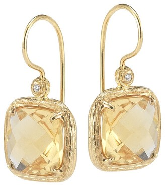 I. Reiss Color Collection 14K 3.79 Ct. Tw. Diamond & Citrine Earrings