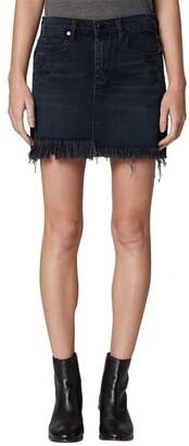 Blank NYC BLANKNYC Asymmetrical Denim Miniskirt