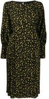Cavallini Erika long sleeved silk dress