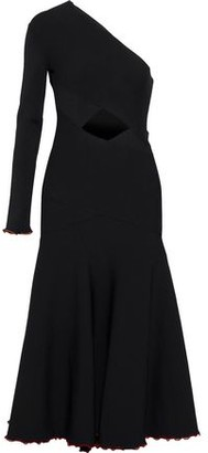 Proenza Schouler One-shoulder Cutout Stretch-knit Midi Dress