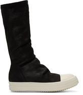 Rick Owens Black Sock High-Top Sneakers