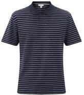 Sunspel Striped Cotton-terry Polo Shirt - Mens - Navy Stripe