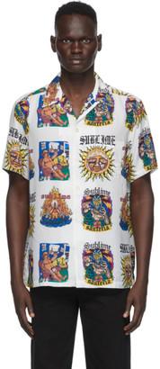Wacko Maria White Sublime Edition Hawaiian Album Print Shirt