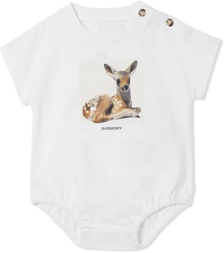 BURBERRY KIDS Deer print bodysuit