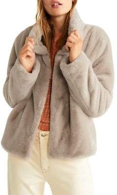 MANGO Faux-Fur Coat