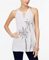 INC International Concepts Petite Sequined Halter Top, Only at Macy's