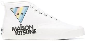 MAISON KITSUNÉ Logo Print Hi-Top Sneakers