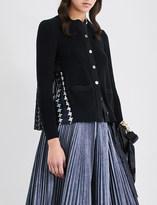 Sacai Tribal-print cotton-knitted cardigan