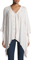 XCVI Lace-Inset Poncho Top, Sugar