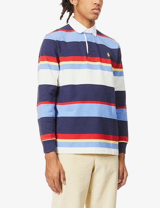 Polo Ralph Lauren Striped classic-fit cotton-jersey rugby shirt