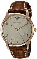 Emporio Armani Men's AR1866 Dress Brown Leather Watch