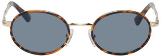 Persol Gold and Blue PO2457S Sunglasses