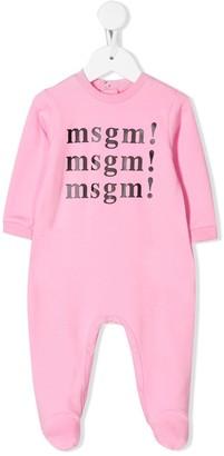 Msgm Kids Logo Print Pajama Set