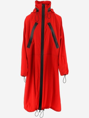 Bottega Veneta Red Nylon Women's Parka Coat