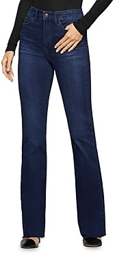 BCBGeneration Raw-Edge Flared Jeans in Abbie